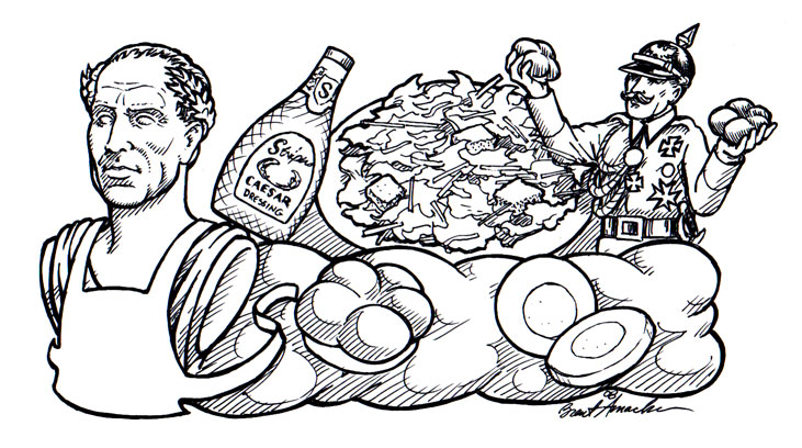Caesar Salad Drawing Caesar Float For Stripers by