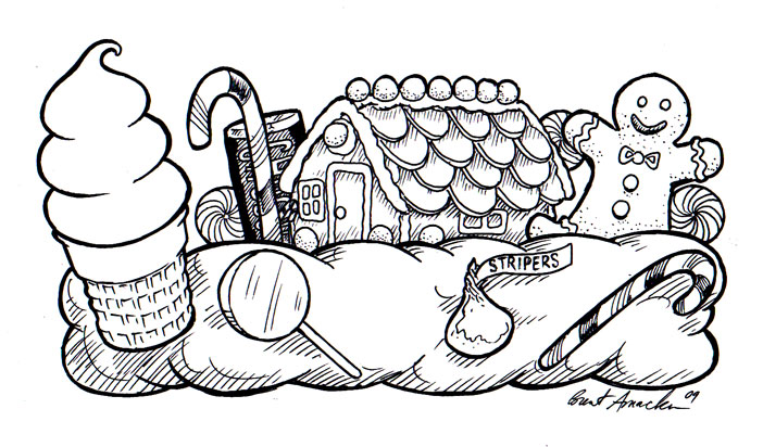 candyland castle coloring pages free - photo#4