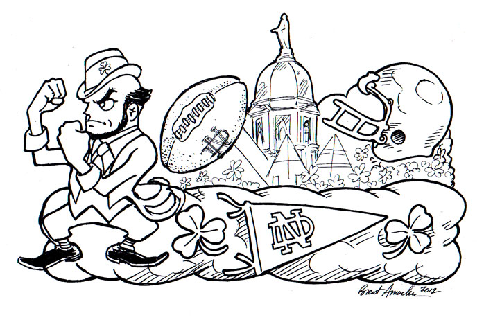 notre dame college coloring pages - photo#5