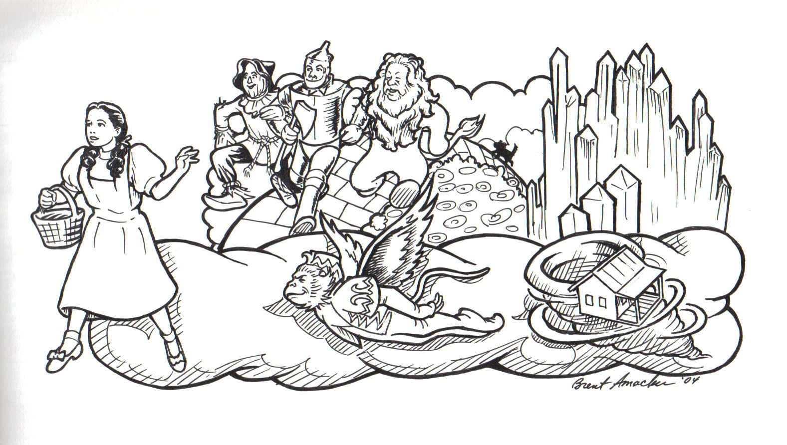 Gallery For gt Wizard Of Oz Characters Drawings